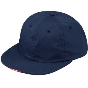 SUPREME ☀ Nylon Visor Label 6 Panel Blue Hat NYC